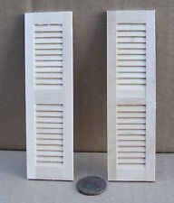 1:12 Scale Pair Of Wooden Louvre Shutters Tumdee Dolls House Miniature DIY