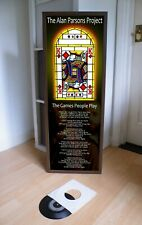 THE ALAN PARSONS PROJECT THE GAMES PEOPLE PLAY PROMOTIONAL POSTER LYRIC SHEET