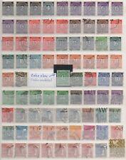 2 Albumseiten Alliierte Besetzung,132 Briefmarken gestempelt,Michel 106,00 (47)
