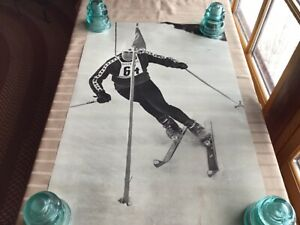 Canadian skier Olympic Skier Poster Prints 1969 20 x 30 NOS. # 64