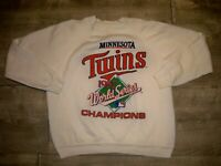 Vintage 1987 MINNESOTA TWINS World Series Champions Sweatshirt Size Large 80 MLB
