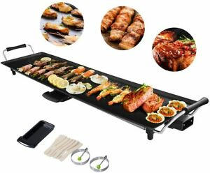 Elektrische Grillplatte 1800W Teppanyaki-Grill Elektrogrill 90x23cm BBQ Grill
