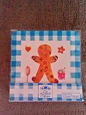Gingerbread man coasters, Christmas coasters, Leonardo collection