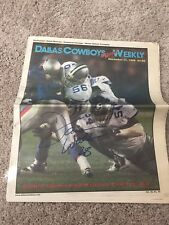 Darrin Woodson Signed Dallas Cowboys Weekly Newspaper Autograph Magazine Photo