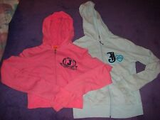 2 *ORIGINAL* JUICY COUTURE ZIP UP HOODED JACKETS SIZE P AND M