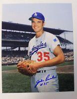 John Purdin (d.2010) Signed Vintage Dodgers 8x10 Photo JSA 15B