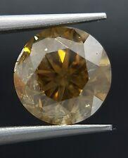 2.77 Carat Huge Natural Color Brown Diamond Cognac Champagne Color Real Image