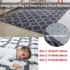 Luxury Velvet Fluffy Rugs Indoor Shaggy Area Rug Mat Carpet Living Room Bedroom