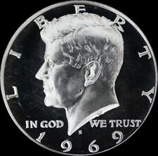 1969 S Kennedy Half Dollar 40% SILVER PROOF US Mint Coin