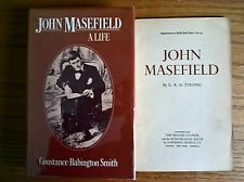 2 books on John Masefield, by Constance Babington Smith and LAG Strong