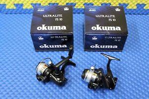 Okuma Ultralight Ice Fishing Spinning Reel Pre-spooled Model 10 FS-10 2-Pack