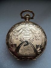 Waltham Orologio da taschino/Ciondolo (14k Solid Gold Hunter caso) 1896