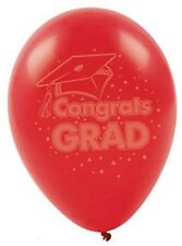 Graduation Party Balloons Lot of 1 Dozen CLASS 2018 Celebration Decorations RED
