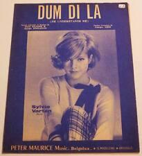Partition sheet music SYLVIE VARTAN : Dum Di La * 60's KILGORE