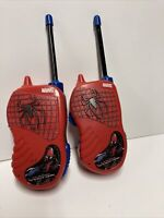 Marvel The Amazing Spiderman Walkie Talkies - Red and Blue 2012 Used
