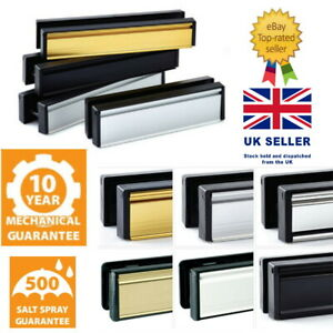 "Door Letter Plate Chrome UPVC or Composite Doors PVC Flat Seal 10"" Standard Size"
