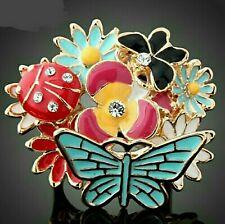 Butterfly Garden Enameled Ring