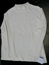 Croft & Barrow womens XL white mockneck shirt long sleeve top mock neck