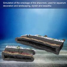 Aquarium Fish Tank Titanic Model Ship Wreck Boat Ornament 38.5*9*6cm