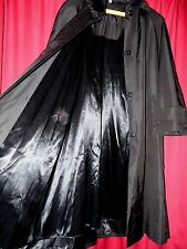 Cloud Nine shiny black long winter rain coat removable liner Med stunning Xmas