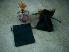 5 Satin Forest Green Pouch Jewelry Gift Bag 3x4 Draw String Ribbon Closure