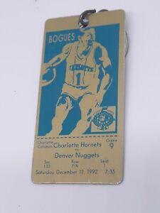 Vintage Charlotte Hornets Muggsy Bogues Golden Ticket Key Chain/Souvenir 1992