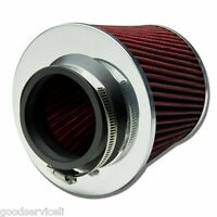 """3"""" 75mm Red Shell Cars High Flow Cone Cold Air Intake Filter Cleaner For Holden"""
