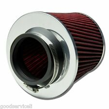 "3"" 75mm Red Shell Cars High Flow Cone Cold Air Intake Filter Cleaner For Holden"