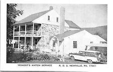 Postcard PA Newville Yeingst's Match Service ~ Old Station Wagon J10