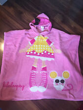 girls LALALOOPSY FLEECE BLANKET SHAWL soft sleece CRUMBS pink HOODIE hooded CUTE