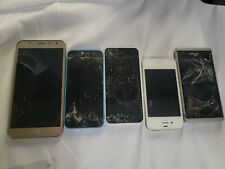 IPHONE Samsung OTHERS CELL PHONE LOT 5 for parts
