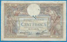GERTROLEN  Billet 100 FRANCS  Luc Olivier Merson 17-3-1938  N.58276
