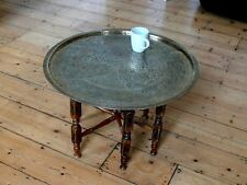 Ethnic Turkish oriental brass table