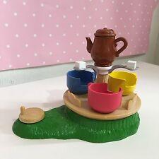 Sylvanian Families vintage fairground playground working baby teacup ride
