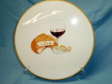 "CERAMICA CUORE Wine Cheese Plate Serving Platter Trivet ITALY 9"" Vino Formaggio"