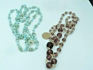 2 Attractive Vintage Deco Flapper Necklaces