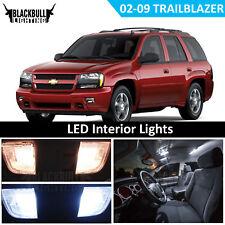 White LED Interior + Reverse Light Package Kit for 2002-2009 Chevy Trailblazer