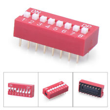 1PC Red Slide Type Switch Module 2.54mm 8-Bit 8 Position Way Control DIP