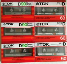 6 X TDK D 60 1986 Made in Japan - audio cassette Tapes Blank