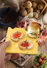 8 FRED Swiss Dish Cheese Slice Appetizer Plates with Built-In Wine Glass Holder