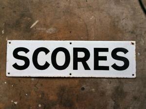 """Vintage St Andrews road sign - """"Scores"""", great golfing memento or bar decoration"""