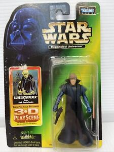 NEW Star Wars Expanded Universe Luke Skywalker with 3-D PlayScene Kenner 1998