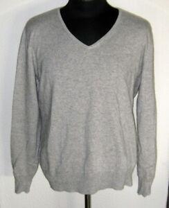 Damen Pullover aus Seide und Kashmir Gr. 46 Neu - Grau