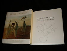 Julie Taymor signed Playing With Fire 1st printing hardcover book Lion King