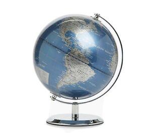 30CM Educational Swivel World Globe Map M&S RRP £39.50 New Ideal Xmas Gift Blue