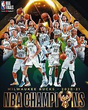 Milwaukee Bucks 2021 NBA Champions Basketball - Unsigned 8x10 Photo
