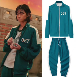 SQUID GAME Tracksuit Costume Adults Sportswear (S - XL)