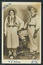 OH Dayton RPPC 1943 THE BIGGEST COUPLE Fischer BARNUM & BAILEY CIRCUS No. A-132