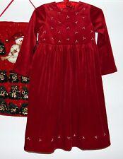 Laura Ashley vintage Mother & Child raspberry-red velvet party dress, 6 years
