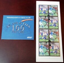 Faroe Stamp Booklet #31 2004 Fifa Centennial Football Soccer - Fdc - Excellent!